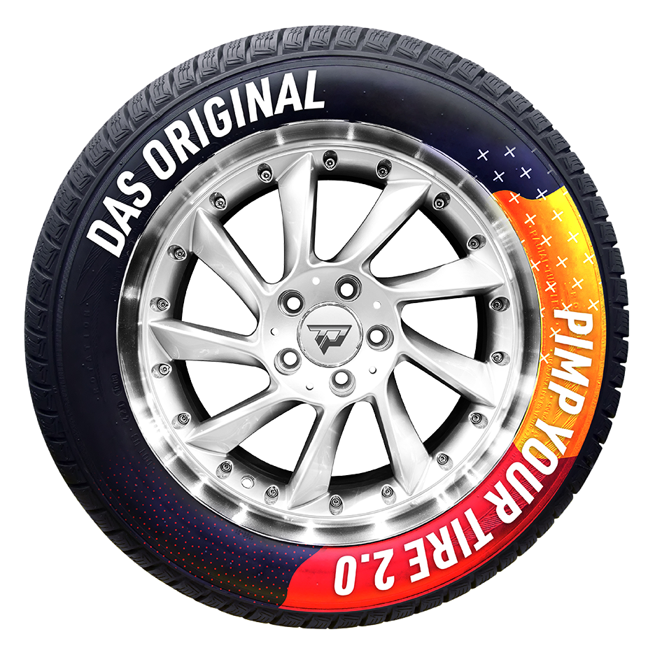 bedruckter Reifen
