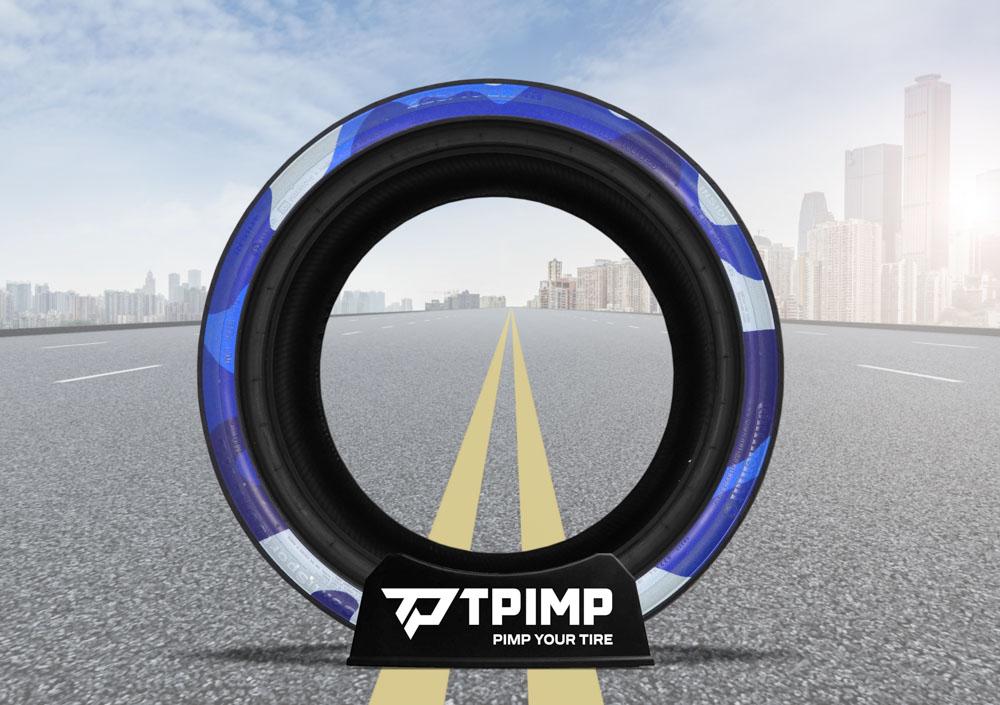 Tyre blue Camouflage